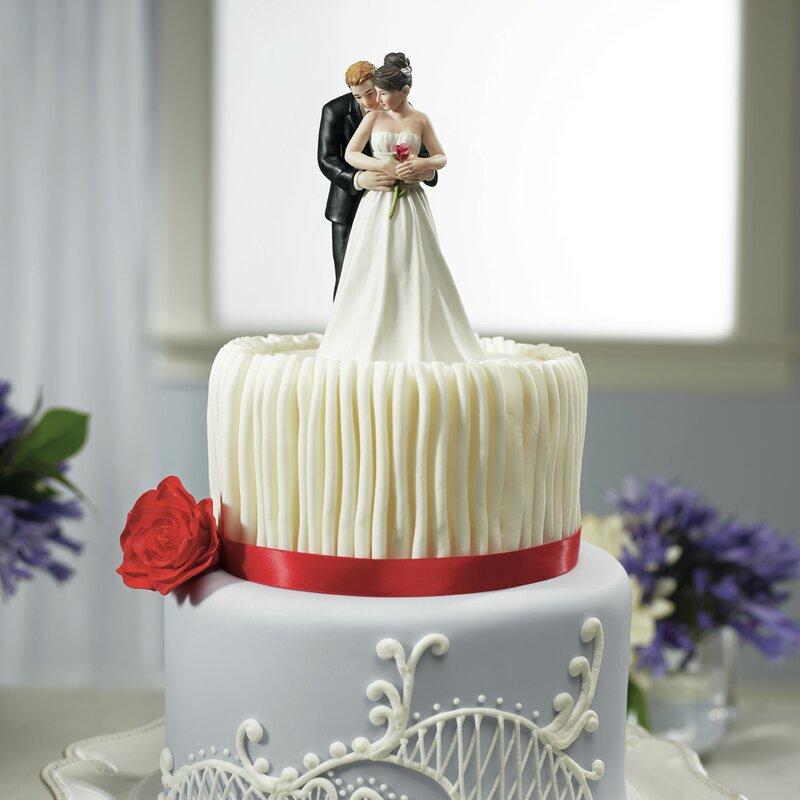 Rose+Bride+And+Groom+Cake+Topper